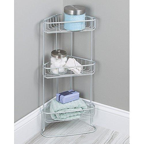 ToiletTree Products Shower Floor Caddy, Stainless Steel, Rust-Free Guarantee, 3 Tiers
