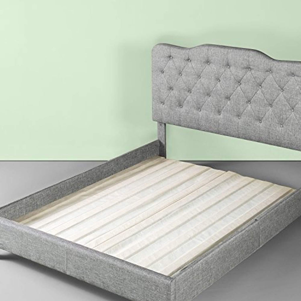 Zinus Solid Wood Bed Support Slats Fabric Covered Bunkie Board Qu Sofia Imports