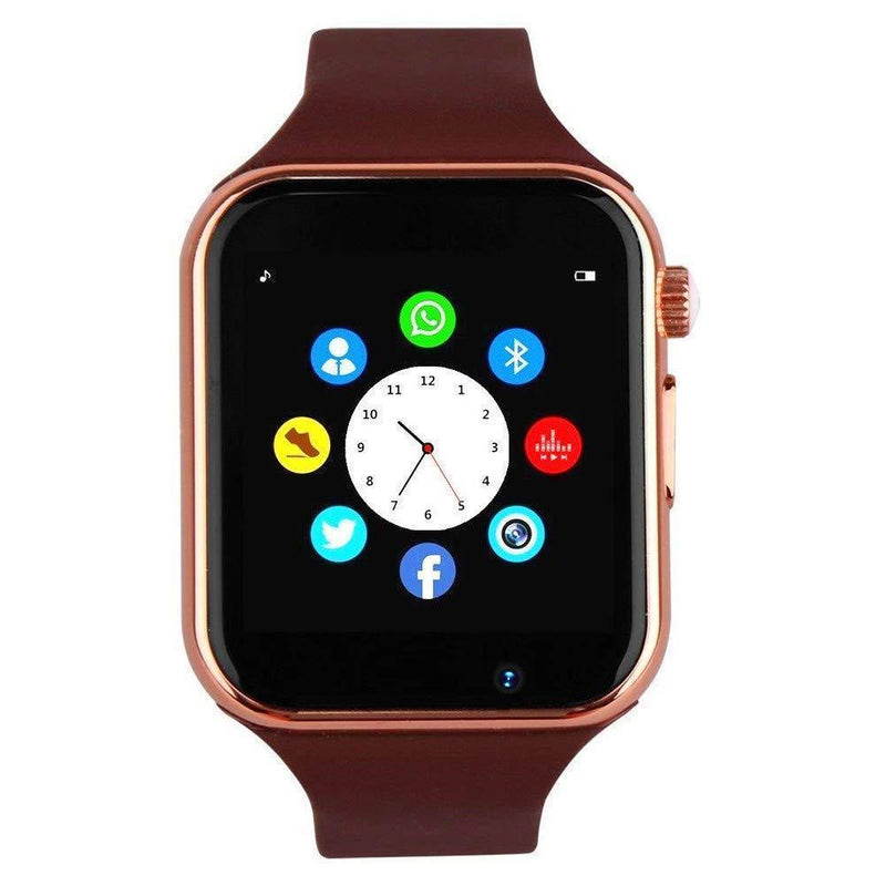 Bluetooth Smart Watch - Wzpiss Smartwatch Touch Screen Wrist Watch with Camera/SIM Card Slot Compatible with iOS iPhones Android Samsung for Kids Women and Men (Black)