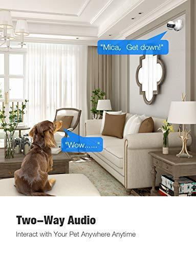 Wireless Security Camera,720P HD WiFi Baby Monitor, Pan/Tilt/Zoom IP Camera for Baby/Elder/Pet/Nanny Monitor Night Vision Motion Detection 2-Way Audio Cloud Service Available