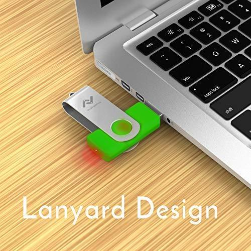 32GB Flash Drives Bulk 10 Pack USB 2.0 32 GB Thumb Drive Jump Drive Pen Drive Memory Drive Zip Drive with LED Light for Storage by Imphomius - 10Pack,Multicoloured