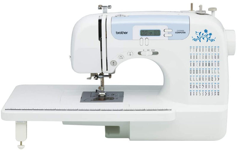 "Brother Sewing and Quilting Machine, CS6000i, 60 Built-in Stitches, 2.0"" LCD Display, Wide Table, 9 Included Sewing Feet"