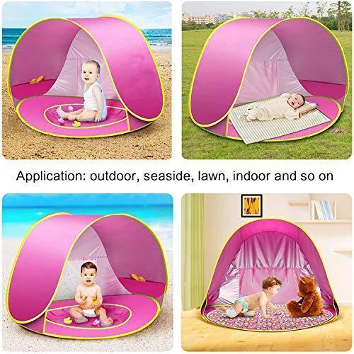 Baby Beach Tent, Pop Up Portable Sun Shelter with Pool, 50+ UPF UV Protection & Waterproof 300MM, Summer Outdoor Baby Tent for Aged 0-4 Infant Toddler Kids Parks Beach Shade by TURNMEON