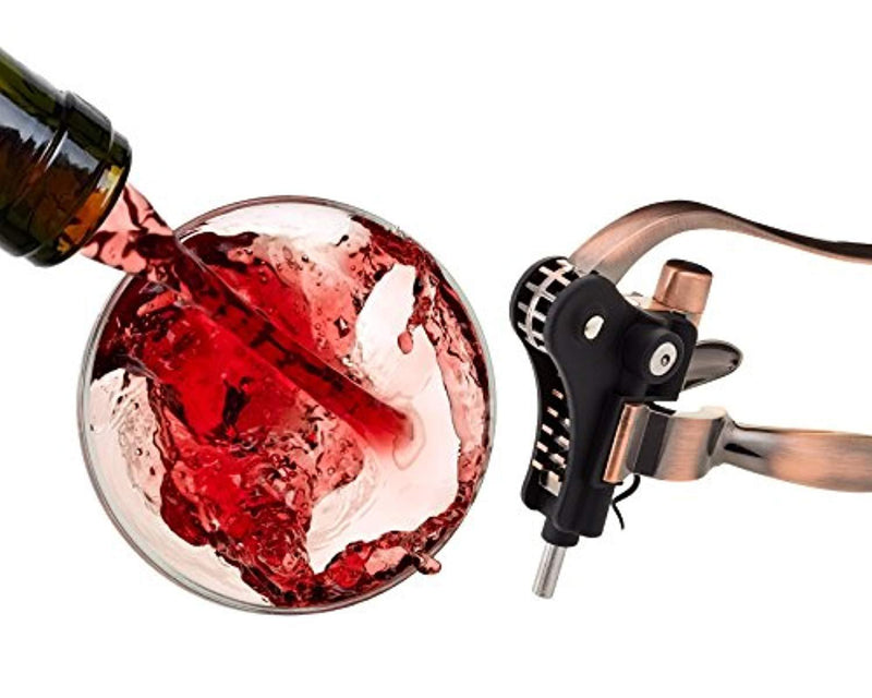 Improved Design, Non-breakable Wine Bottle Opener Corkscrew Set With Foil Cutter and Extra Screwpull, Unique Gifts For Mom, Women, Men, Her, Him, Anniversary, Birthday, Christmas, Couples