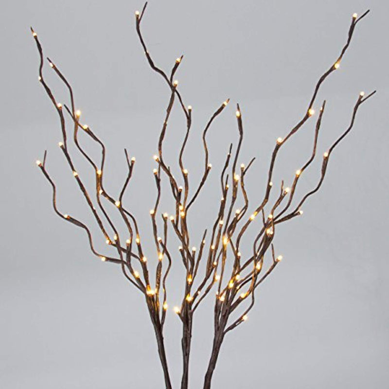 Best Choice Products 40in Decorative Willow Branch Incandescent Home Lights w/ 96 LED - Brown