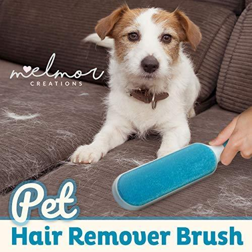 Melmor Creations Pet Hair Remover Brush | Double-Sided Animal Hair Lint Cleaner/Remover with Self-Cleaning Base | Cat & Dog Coats/Paws | Fur Remover Tool for Dog Bed, Furniture, Clothes & House