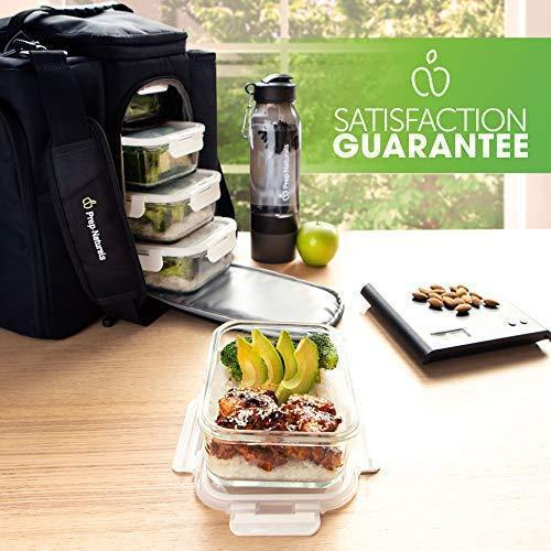 Naturals Glass Meal Prep Containers (5 Pack, 30 Ounce) - Glass Food Storage Containers with Lids - Glass Storage Containers with Lids - Lunch Containers Airtight Food Prep Containers Bpa-Free by Prep Naturals