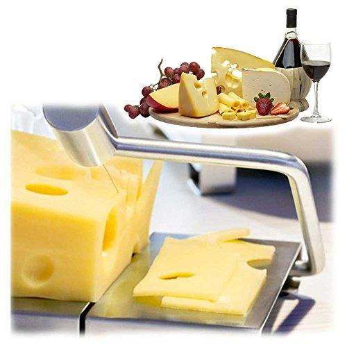 Cheese Slicer Stainless Steel Wire Cutter for Semi Hard and Hard Cheese - Butter Slicer - Vegetable Slicer - Food Slicer - Vegetable Cutting Board Baking Tool (Stainless Steel)