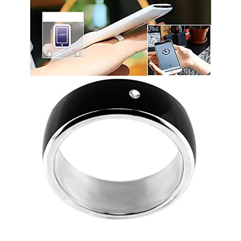 ChiTronic Newest Magic Smart Ring Universal For All Android Windows NFC Cellphone Mobile Phones,Black,Ring Size 62.8mm(Girth)