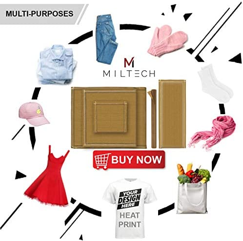 MILTECH Heat Pressing Kit 5 Pack with 4 Sizes Pillow and 1 Pcs Teflon Sheet for Vinyl Digital Transfer Projects,