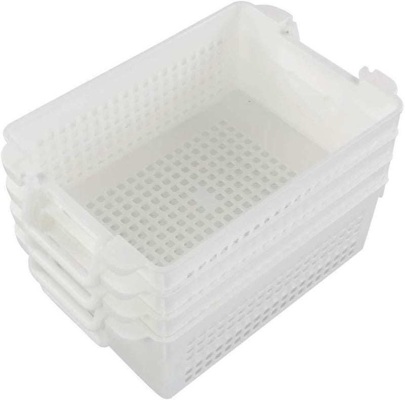 Saedy Black Plastic Basket Trays for Files, Letters, Documents, Set of 6