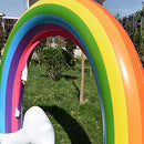 STFLY Outdoor Rainbow Sprinkler Inflatable Rainbow Cloud Yard Sprinklers Archway Lawn Beach Outdoor Toys, Water Toys for Child Adult Kid Summer Fun Play