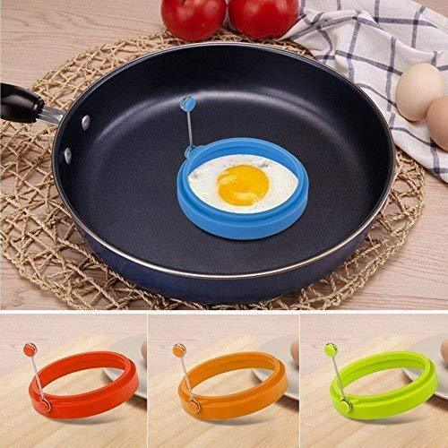 Silicone Egg Rings NonStick 4 Pack-Perfect Round Fried Egg Mold Cooking Rings Pancakes Molds
