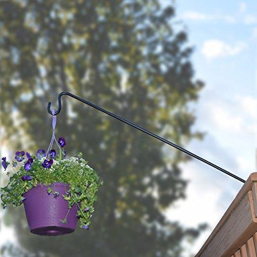 Gray Bunny GB-6819 Heavy Duty Deck Hook, 37 Inch Pole, 2 Inch Non-Slip Clamp, with 360 Degree Swivel, for Bird Feeders, Planters, Suet Baskets, Lanterns, Wind Chimes and More