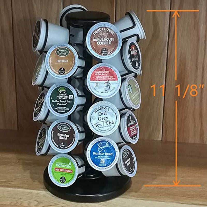 K -32 Cup Carousel,Coffee Pod Holder Carousel Holds 32 Single Cup Coffee Pods in Matte Black