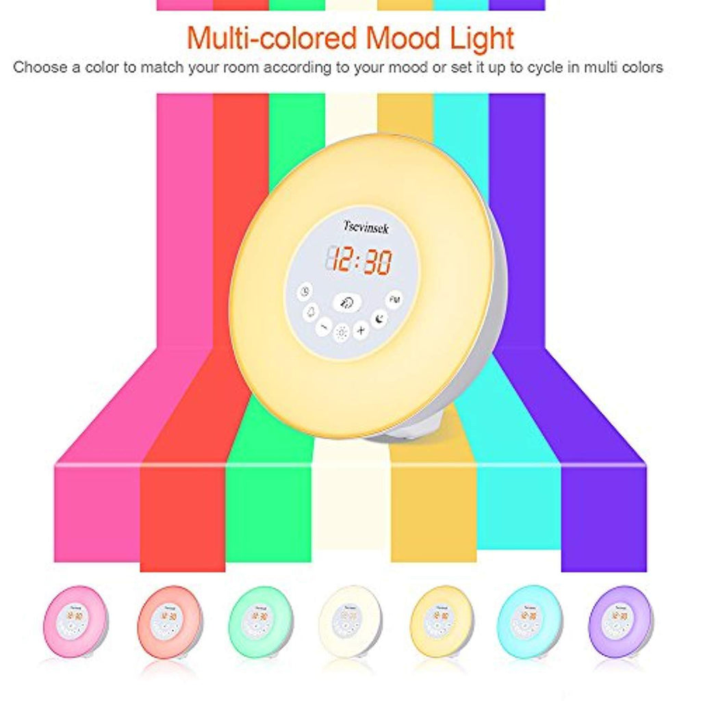Kxdn Roblox Alarm Clock Colorful Mood Led Alarm Clock Snooze Night Tsevinsek Digital Alarm Clock With Wake Up Light Sunrise Sunset Simul Sofia Imports