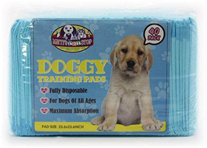"Matty's Pet Stop Premium Pet Training Pads for Dog & Puppy (23.6"" x 23.6"") Super-Absorbent - 40 Pack"