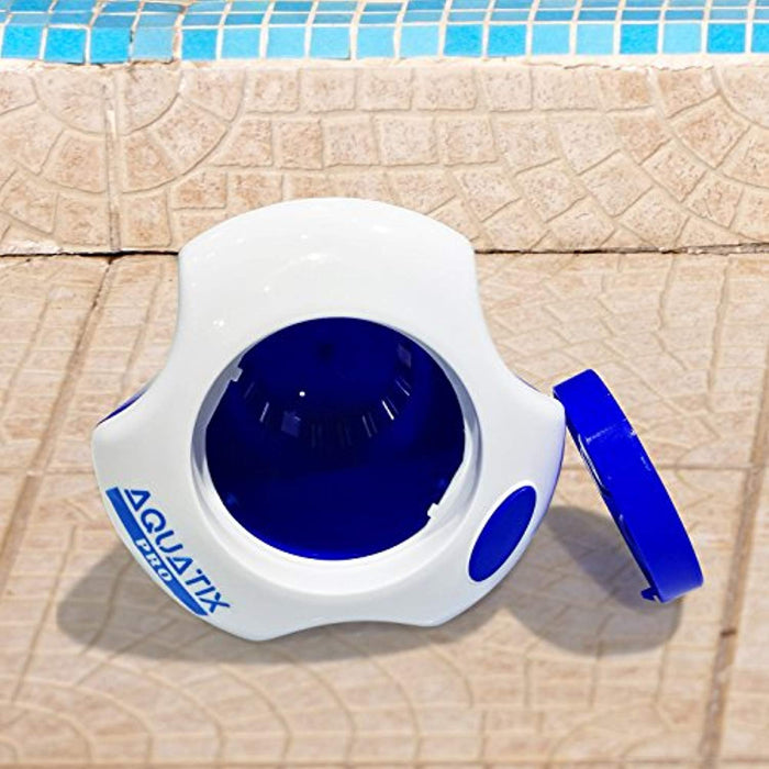 "Aquatix Pro Large Pool Chemical Dispenser with Thermometer, Strong Floating Chlorine Dispenser for Indoor & Outdoor Swimming Pools, Up to 3"" Bromine Tablet Holder, Use as a Spa Chemical Dispenser"