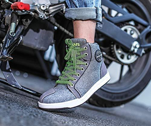 Motorcycle Shoes Men Streetbike Casual Accessories Breathable Protective Gear Powersport Anti-slip Footwear 8 One Year Warranty