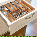 ✔ Premium, Extra Deep, Non-slip, Large Silverware Organizer| Expandable Bamboo Utensil Drawer Organizer| Wooden Flatware Holder, Cutlery Tray| Adjustable Kitchen Drawer Divider by PRISTINE BAMBOO