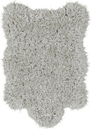 Ottomanson Flokati Collection Faux Sheepskin Lambskin Design Shag Rug, 2'X3', Dark Grey