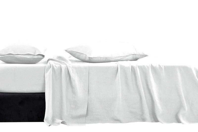 KETHER Luxury Hotel Collection Double Brushed Microfiber - 1800 Series - Twin Size Sheet Set with 15 Inch Deep Pocket (Solid White) - 3 Piece Set - Wrinkle Free, Stain Resistant Bed Sheet Set
