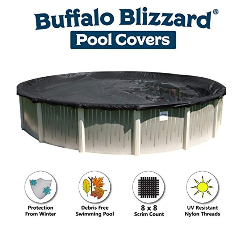 24' Round DELUXE PLUS Above Ground Swimming Pool Winter Cover 10 Year Limited Warranty by Buffalo Blizzard