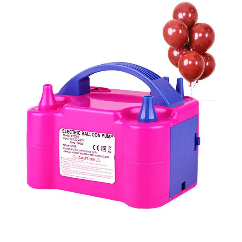 Growsun Portable Electric Air Balloon Pump 110V 600W Balloon Blower Inflator For Party Decoration,Rose Red