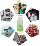 4GB Memory Stick USB 2.0 Flash Drive 10 Pack Bulk Thumb Drives 4 GB Portable Swivel Data Sticks Zip Drive Green PenDrive Jump Drive for Data Storage by FEBNISCTE