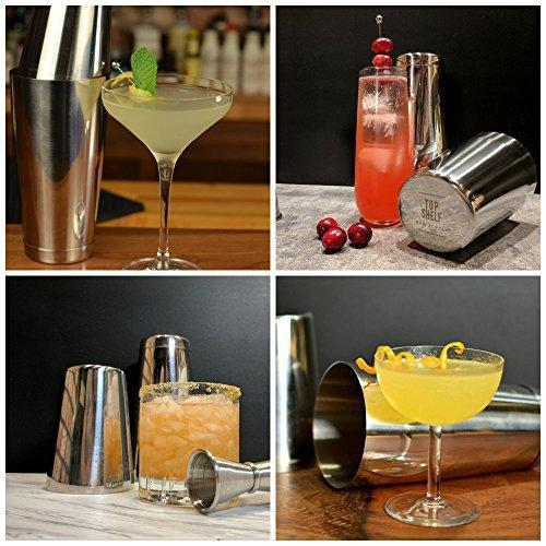 Boston Shaker: Professional Stainless Steel Cocktail Shaker Set, including 18oz Unweighted & 28oz Weighted Shaker Tins