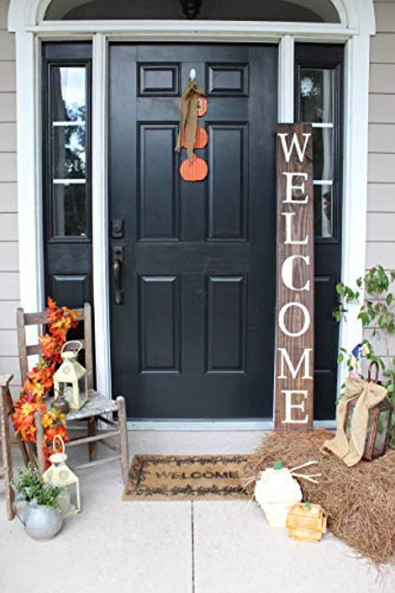 SmithFarmCo Wooden Welcome Sign for Home Front Porch Sign/Front Door Sign: Rustic Wood