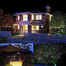 Roll over image to zoom in YMING Christmas Laser Lights Outdoor Projector with RF Wireless Remote, Including 8 Patterns, Class IIIA, 2.0mW Power, for Landscape Garden Holiday Party