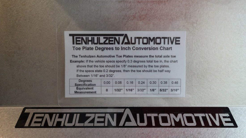 Tenhulzen Auto 2200 Toe Plates with degrees conversion included