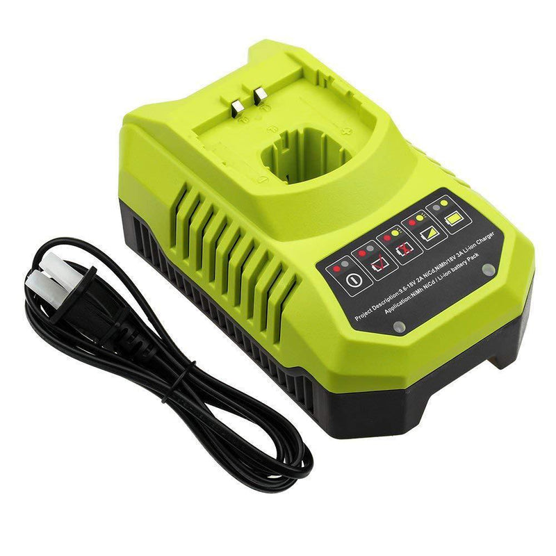 P117 Charger Dual Chemistry for Ryobi 18V 14.4V 12V 9.6V Battery Lithium Ni-Cd Ni-Mh P100 P102 P103 P104 P105 P107 P108