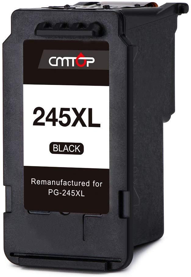 CMTOP Compatible Ink Replacement for Canon PG-245XL 245XL Ink Cartridge, Use with Canon PIXMA MX492 MX490 MG2920 MG2520 IP2820 MG2420 MG2922 MG2522 MG2525 MG3020 MG2450 MX498 MG2550 Printer, 2 Black
