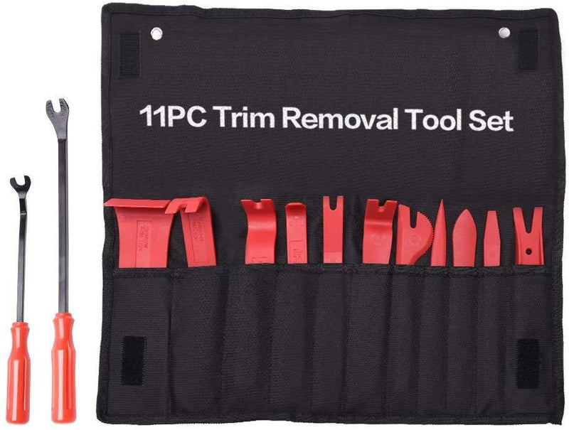 MICTUNING 13 Pcs Auto Trim Removal Tool Set with Fastener Removers Strong Nylon Door Panel Tool Kit