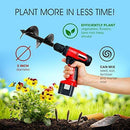 7Penn Garden Plant Flower Bulb Auger 3in x 12in Rapid Planter – Post or Umbrella Hole Digger for 3/8in Hex Drive Drill