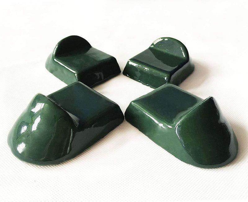 Ceramic Grill Feet Shoes Set of 4 Accessories Parts Raise the Primo,Big Green Egg,Kamado Joe Charcoal Grill Used For BBQ Grill Table Outdoor and Garden
