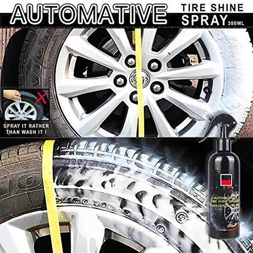 Automotive Tire Shine Spray,Lustrous, Long Lasting Shine, Best Tire Dressing Car Care Protectant Kit for Car Tires After Car Wash, Car Detailing Kit for Wheels and Tires (Black, 4 oz(120ml))
