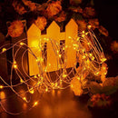 HAHOME Waterproof Fairy String Lights,33Ft 100 LEDs Indoor and Outdoor Starry Lights with Power Supply for Christmas Halloween Wedding and Party Decoration,Yellow