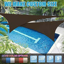Amgo 24' x 24' x 24' Grey Triangle Sun Shade Sail Canopy Awning, 95% UV Blockage Water & Air Permeable, Commercial & Residential, for Patio Yard Pergola, 5 Yrs Warranty (Available for Custom Sizes)