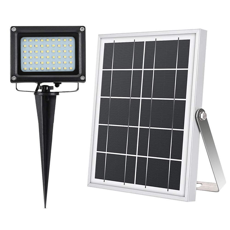 Solar Flood Lights Outdoor,Simex 5W 54LEDs IP65 Auto Turn On/Off Solar Powered Security floodlights for Backyard Garden Driveway Pool Area