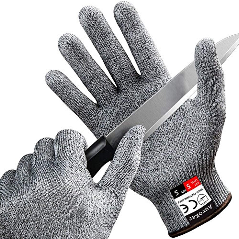 [Cut Resistant Gloves] AuroKer® Kitchen Gloves with Food Grade Level 5 Hand  Protection|Light-weight Work Gloves Safety Gloves (XL)