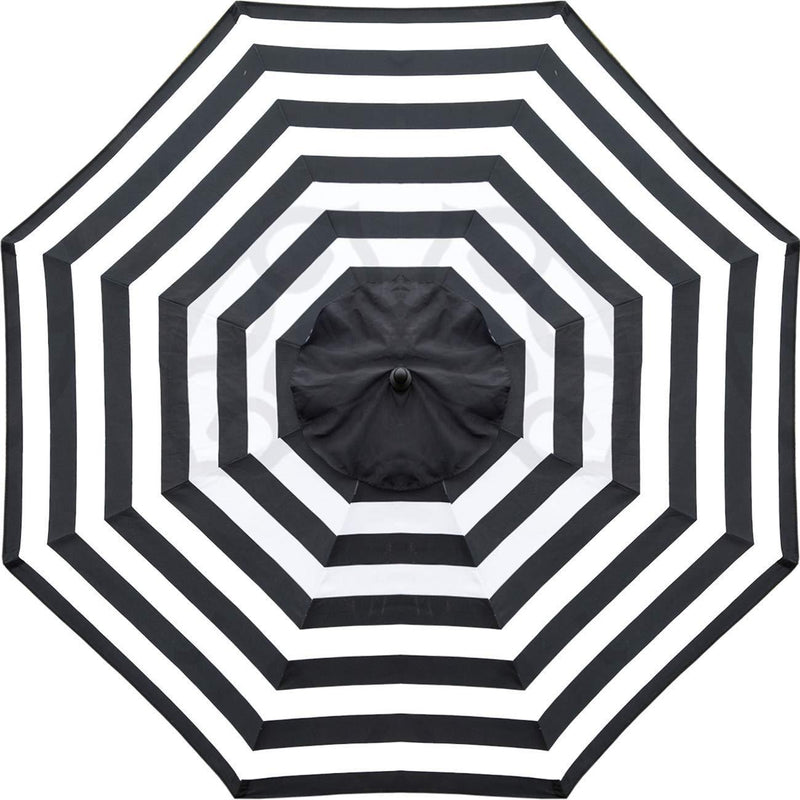 Sunnyglade 9ft Patio Umbrella Replacement Canopy Market Umbrella Top Outdoor Umbrella Canopy with 8 Ribs (Black and White)