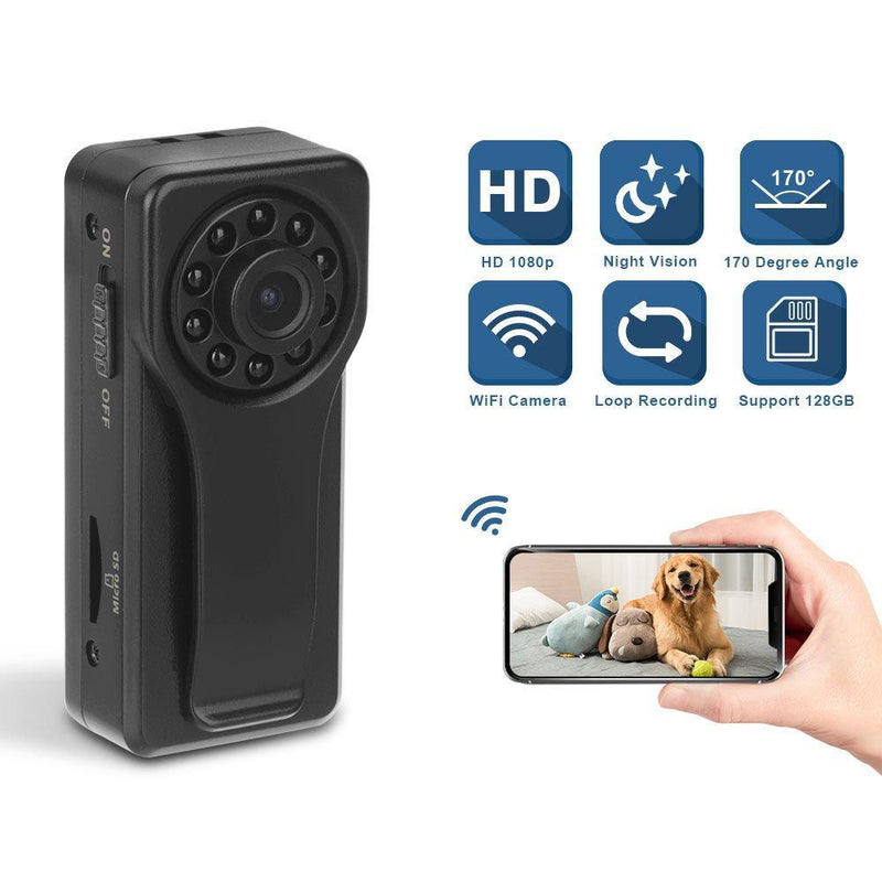 Wireless Camera, Eslibai WiFi Camera with Motion Detection, HD 1080P for iOS iPhone Android Phone App Remote View, Support 128GB SD Card (K6)