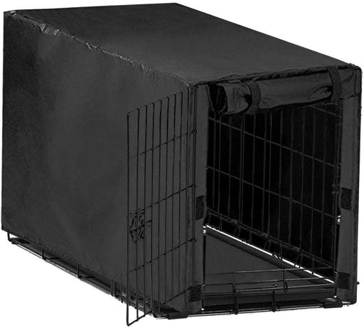 Avanigo Black Dog Crate Cover for 24 36 42 48 Inches Metal Crates Wire Dog Cage,Pet Indoor/Outdoor Durable Waterproof Pet Kennel Covers