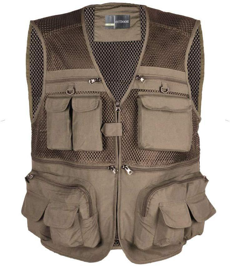 LOOGU Outdoor Fly Fishing Vest with Multi-Pockets for Fishing,Hunting, Hiking, Climbing, Traveling, Photography
