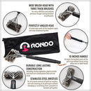 RONDO Grill Brush, 3 BBQ Brushes in 1, Wire Stainless Steel Barbecue Grill Cleaning Brush