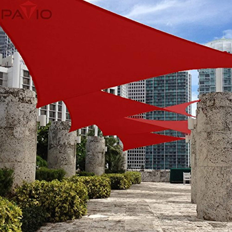 PATIO Paradise 10' x 13' Waterproof Sun Shade Sail Stainless Steel Hardware-Red Rectangle UV Block Durable Awning Canopy Outdoor Garden Backyard