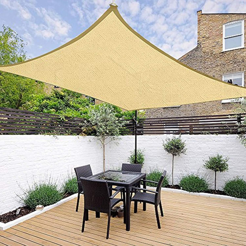 Yescom 16 x 12 Ft Rectangle Sun Shade Sail UV Top Outdoor Canopy Patio Lawn